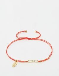 Браслет‑фенечка с бусинами Orelia Infinity - Золотой