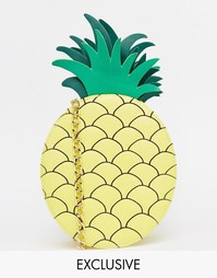 Эксклюзивная сумка через плечо в форме ананаса ASOS - Мульти Skinnydip