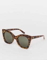 Большие солнцезащитные очки в черепаховой оправе Le Specs Savanna