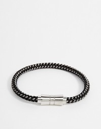 Серебристый плетеный браслет Seven London - Серебряный