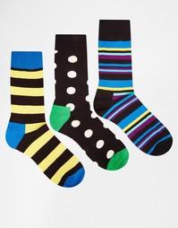 Набор из 3 пар носков с принтом HS By Happy Socks - Мульти