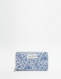 Парусиновый кошелек на молнии Jack Wills - Синий цветочный