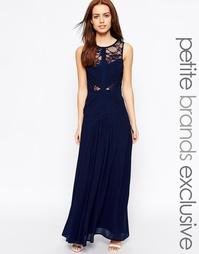 Платье макси в греческом стиле с кружевными вставками Jarlo Petite Del