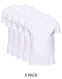 5 футболок с круглым вырезом ASOS - Скидка 20% - Белый