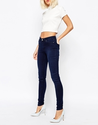 Суперстретчевые джинсы скинни Weekday - Выбеленный голубой