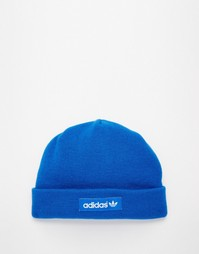 Шапка-бини с логотипом adidas Originals - Синий