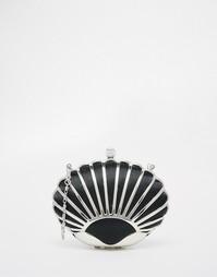 Черный клатч в виде ракушки Vintage Styler - Черный