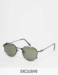 Круглые солнцезащитные очки со съемными линзами Reclaimed Vintage