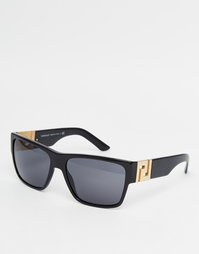 Солнцезащитные очки в квадратной оправе Versace - Черный