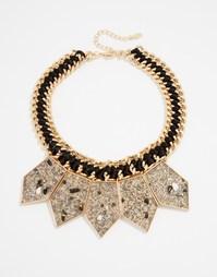 Броское ожерелье ALDO Pipes - Золотой