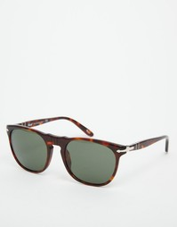 Солнцезащитные очки в квадратной оправе Persol - Коричневый