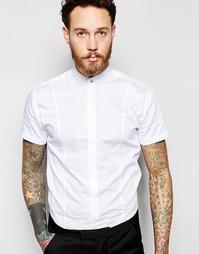 Зауженная рубашка в стиле ретро с короткими рукавами Noose & Monkey