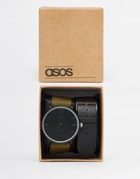 Часы со сменными ремешками ASOS - Черный
