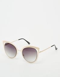Солнцезащитные очки кошачий глаз в металлической фигурной оправе ASOS