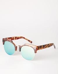 Круглые солнцезащитные очки с высокой переносицей и плоскими стеклами Asos