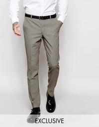 Супероблегающие брюки в ломаную клетку Heart & Dagger - Коричневый