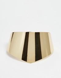 Массивный браслет-манжет Selected Femme Inga - Золотой
