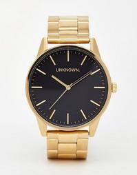 Золотистые часы с ремешком из нержавеющей стали UNKNOWN - Золотой