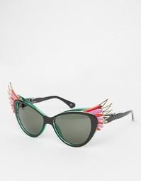 Солнцезащитные очки кошачий глаз с птичьим дизайном Jeepers Peepers
