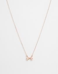 Ожерелье с подвеской в виде бантика Ted Baker Edda - Baby pink