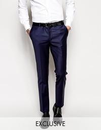 Супероблегающие эластичные брюки Noose & Monkey - Темно-синий