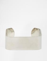 Гладкий квадратный браслет-манжета ASOS - Серебряный