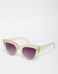 Солнцезащитные очки кошачий глаз с металлической вставкой ASOS
