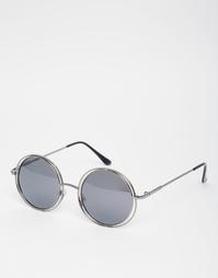 Круглые солнцезащитные очки в металлической оправе AJ Morgan