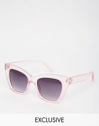 Розовые солнцезащитные очки кошачий глаз AJ Morgan - Розовый