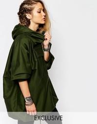 Куртка через голову с капюшоном Reclaimed Vintage - Хаки