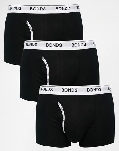 Комплект из 3 боксеров-брифов Bonds - Черный