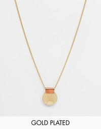 Ожерелье с подвеской в виде солнца Wolf & Moon - Золотой