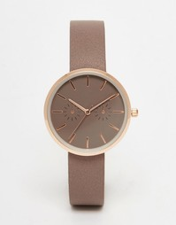 Бежево-розово-золотистые часы ASOS - Mink