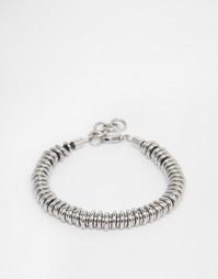 Браслет с металлическими кольцами Seven London - Серебряный