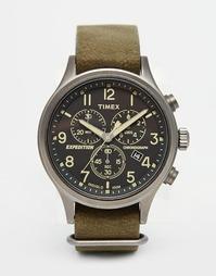 Зеленые часы-хронограф Timex Expedition Scout TW4B04100 - Зеленый