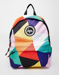 Разноцветный рюкзак с геометрическим принтом Hype - Multi segment