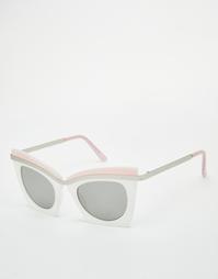 Квадратные солнцезащитные очки кошачий глаз в стиле колор блок ASOS
