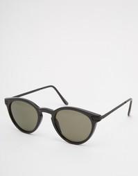 Круглые солнцезащитные очки Reclaimed Vintage - Черный