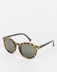 Круглые солнцезащитные очки Jeepers Peepers - Черепаховый