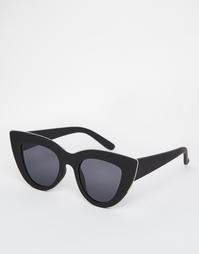 Солнцезащитные очки кошачий глаз с плоскими линзами ASOS - Черный