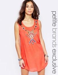Цельнокройное платье с вышивкой Glamorous Petite - Оранжевый