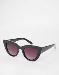 Солнцезащитные очки кошачий глаз с металлической отделкой ASOS
