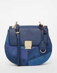 Джинсовая сумка с металлическими деталями ALDO - Темно-синий деним