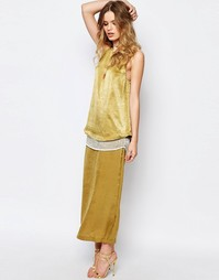 Зеленое платье макси Stevie May Menkar - Зеленый мох