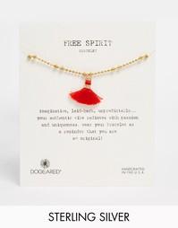 Позолоченный браслет с кисточкой Dogeared Free Spirit