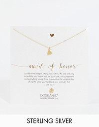 Позолоченное ожерелье с сердечком Dogeared Maid Of Hounor - Золотой