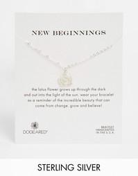 Серебряный браслет с лотосом Dogeared New Beginnings - Серебряный