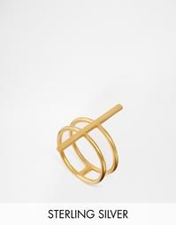 Позолоченное кольцо с планкой Dogeared - Золотой