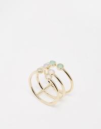 Кольцо с камнями Orelia - Золотой