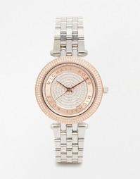 Серебристые часы Michael Kors Darci MK3446 - Серебряный